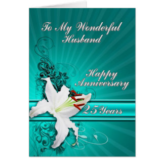 25 year Anniversary card for a husband