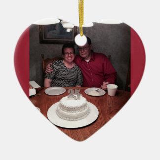 25 year anniversary ceramic heart decoration
