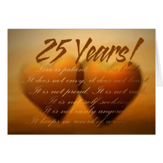 25 Year Anniversary Heart Card