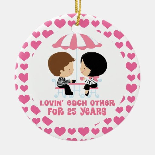 25 Year Couples Anniversary Ornament