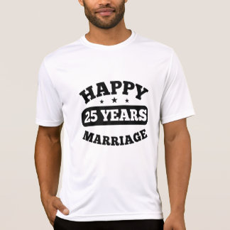 25 Year Happy Marriage T-Shirt