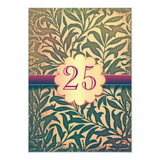 "25 years anniversary invitations vintage style 5"" x 7"" invitation card"