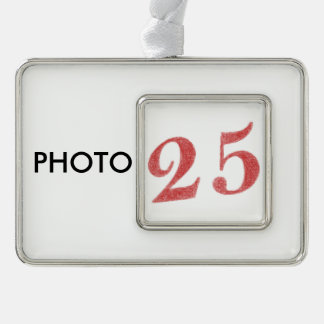 25 years anniversary silver plated framed ornament