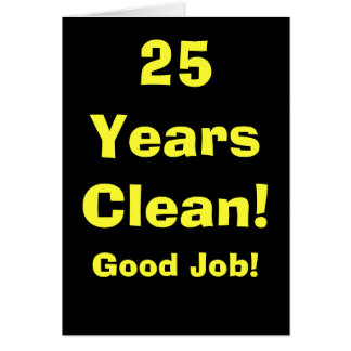 25 Years Good Job! v2 Card