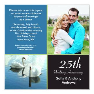 25 years photo anniversary invitation