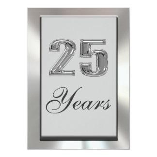 """25 Years Silver Anniversary Invitation 4.5"""" X 6.25"""" Invitation Card"""