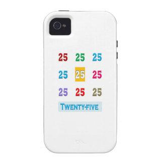 25th 25 Twentyfifth Birthday Anniversary GIFTS xxv Vibe iPhone 4 Covers
