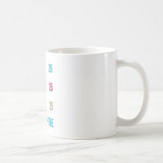 25th 25 Twentyfifth Birthday Anniversary GIFTS xxv Coffee Mug