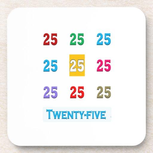 25th 25 Twentyfifth Birthday Anniversary GIFTS xxv Coaster