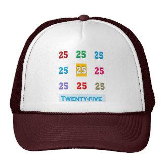 25th 25 Twentyfifth Birthday Anniversary GIFTS xxv Hats