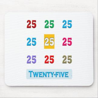 25th 25 Twentyfifth Birthday Anniversary GIFTS xxv Mouse Pad