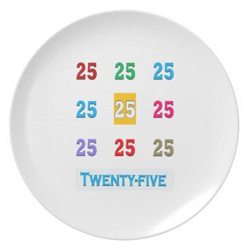 25th 25 Twentyfifth Birthday Anniversary GIFTS xxv Plate