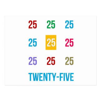 25th 25 Twentyfifth Birthday Anniversary GIFTS xxv Postcard
