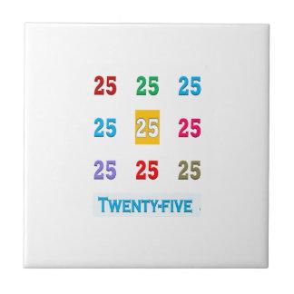 25th 25 Twentyfifth Birthday Anniversary GIFTS xxv Small Square Tile