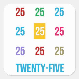 25th 25 Twentyfifth Birthday Anniversary GIFTS xxv Square Sticker