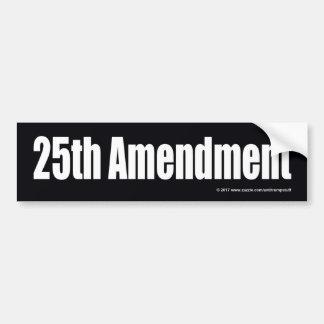 25TH AMENDMENT BUMPER STICKER