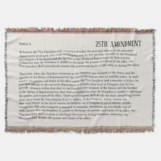 25th Amendment Constitution Removal Impeachment Throw Blanket