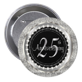 25th Anniversary 7.5 Cm Round Badge