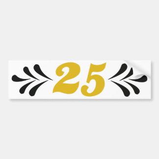 25th anniversary bumper stickers