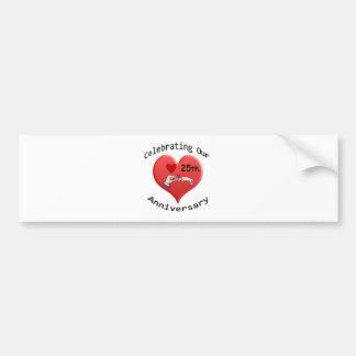 25th. Anniversary Bumper Stickers
