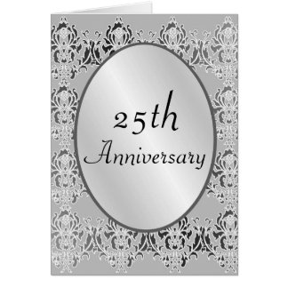 25th Anniversary Card Or Invitation