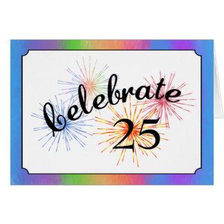25th Anniversary Celebration Card