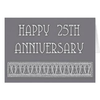 25th anniversary elegant greeting card