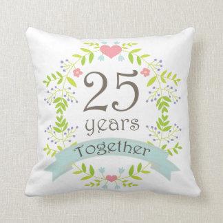 25th Anniversary Gift Throw PIllow Cushions