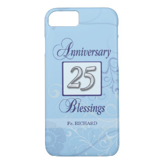 25th Anniversary in Blue and Silver Case-Mate iPhone Case