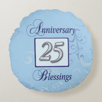 25th Anniversary in Blue and Silver
