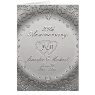 25th Anniversary Monogram Card