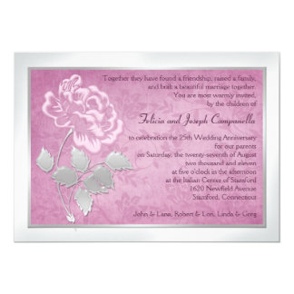 25th Anniversary Pink Peony Invitation