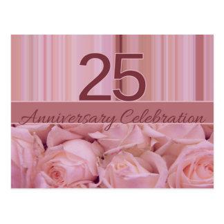 25th anniversary rose invitation post cards