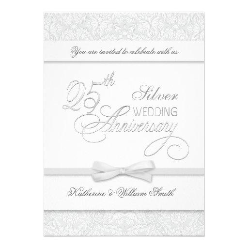 25th Anniversary Silver Anniversary Invitations