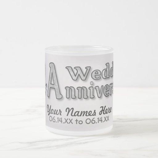 25th Anniversary - Silver - Customize Coffee Mug