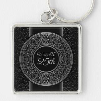 25th Anniversary Silver Medallion Key Chain