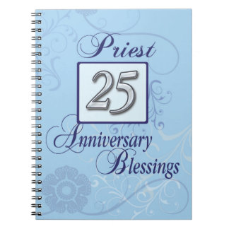 25th Anniversary Silver Number on Blue Notebooks