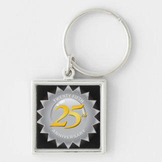 25th Anniversary Silver Seal Key Ring