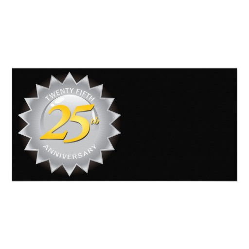 25th Anniversary Silver Seal Photo Card Template
