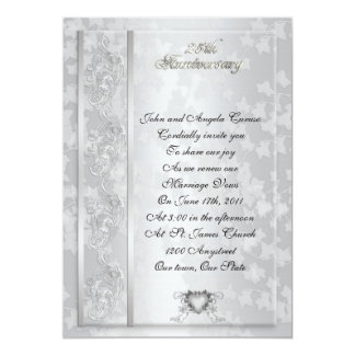 "25th Anniversary vow renewal invitation 5"" X 7"" Invitation Card"