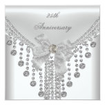 25th Anniversary White Silver Overlay Bow Jewel