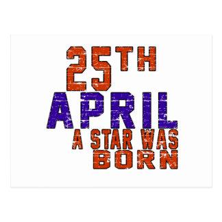 25th April a star was born Postcards