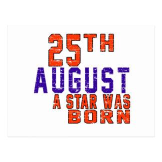 25th August a star was born Postcard