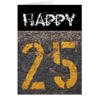 25th Birthday-Card Card