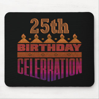 25th Birthday Celebration Gifts Mouse Mats