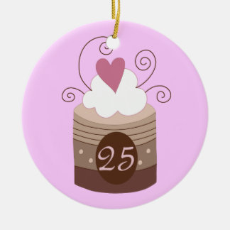 25th Birthday Gift Ideas For Her Ceramic Ornament