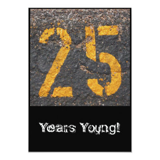 25th Birthday-Invitation 13 Cm X 18 Cm Invitation Card