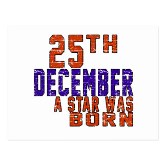 25th December a star was born Post Cards