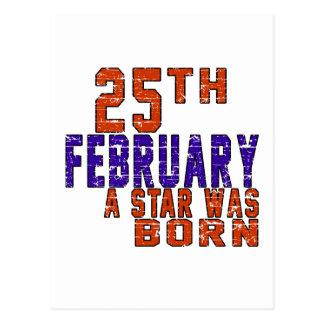 25th February a star was born Post Card