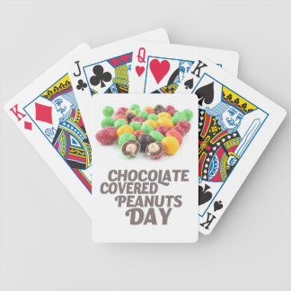 25th February - Chocolate-Covered Peanuts Day Bicycle Playing Cards